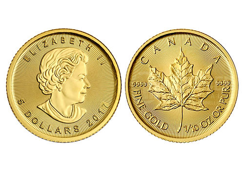 1/10 Unze Maple Leaf Goldmünze